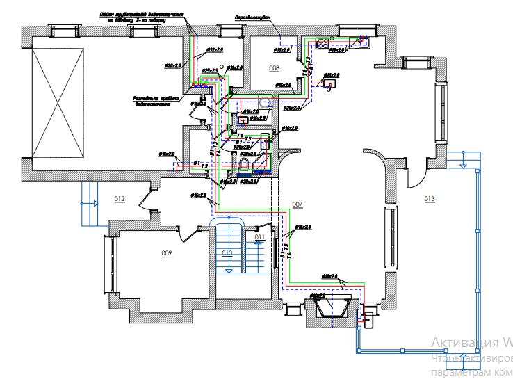 водоснабжение в доме,водопровод в доме